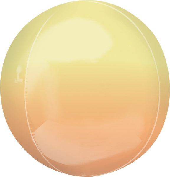 Orbz Ballon Ombré Gelb & Orange 40cm