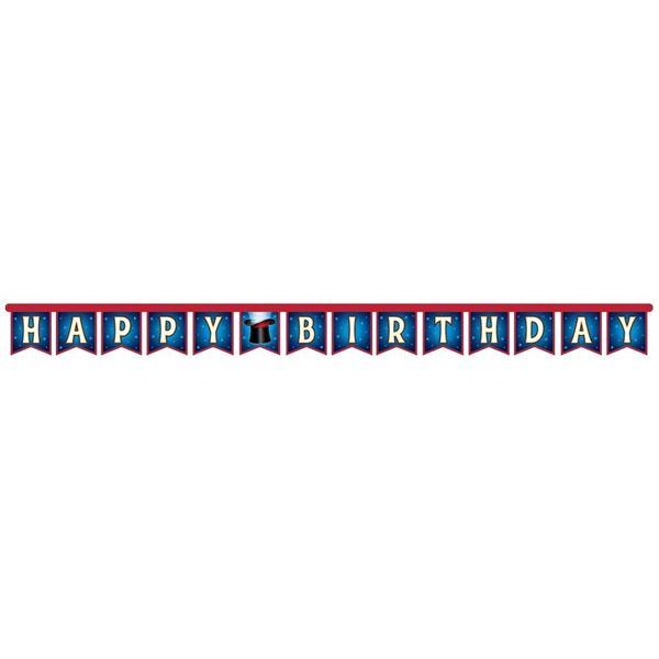 Zauberer Party - Happy Birthday Girlande