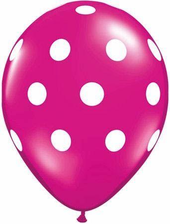 Qualatex Ballon Big Polka Dots Pink 30cm