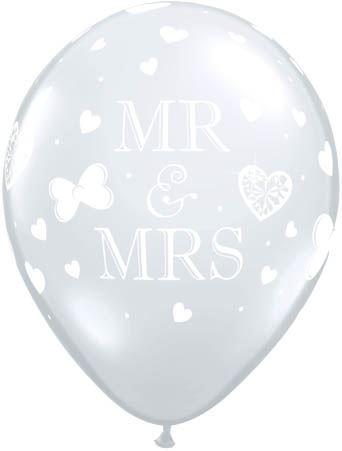 Qualatex Ballon Mr. & Mrs. Transparent 30cm