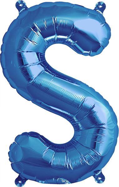 Luftballon Buchstabe S Blau 40 cm