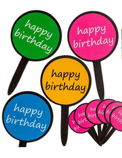 """24 Kuchen Picker """"Happy Birthday"""""""