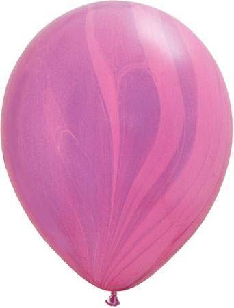 Qualatex Latexballon Super Agate Pink Violet Rainbow Ø 30cm