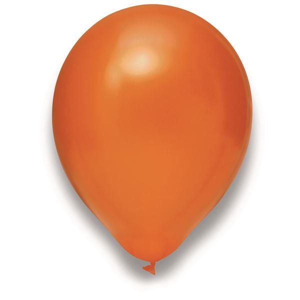 Latexballon Metallic Orange 50 Stück Ø 30cm