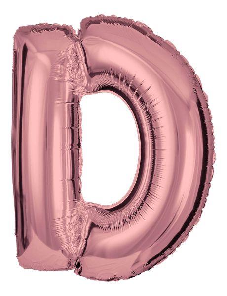 Folienballon Buchstabe D Roségold 100cm