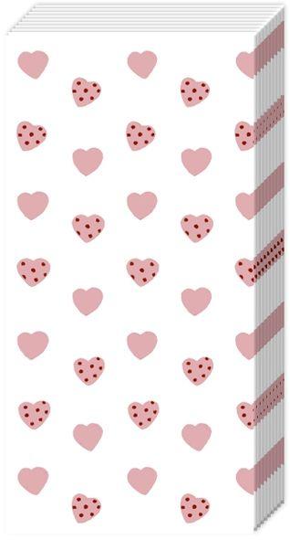 Sweetheart - 10 Herzchen Taschentücher Rosa