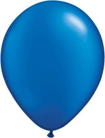 Qualatex Latexballon Pearl Sapphire Blue Ø 30cm