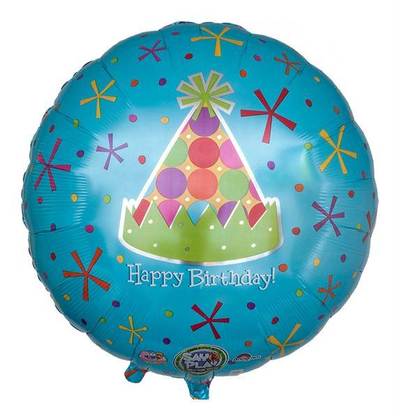 Musikballon Geburtstags-Hütchen 71cm