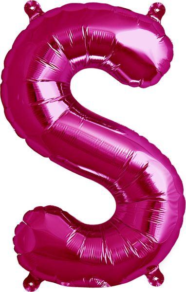Luftballon Buchstabe S Pink 40cm