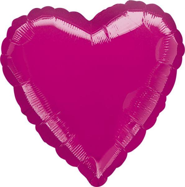 Folienballon Herz Pink 45cm