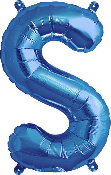 Luftballon Buchstabe S Blau 40cm