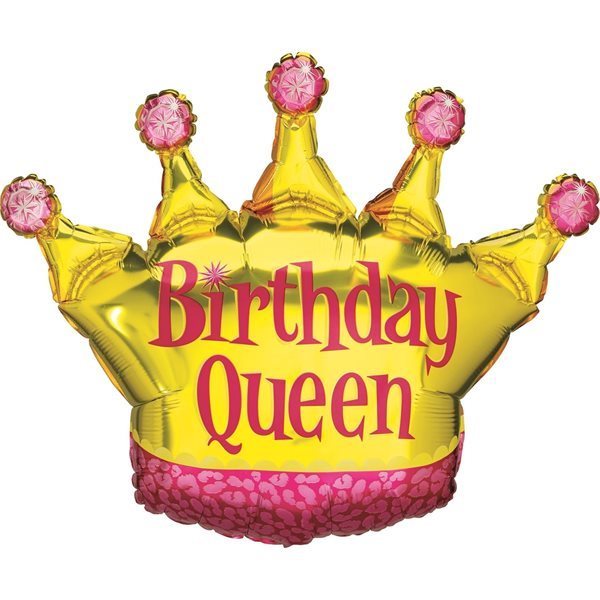 "Folienballon Krone ""Birthday Queen"" 90cm"