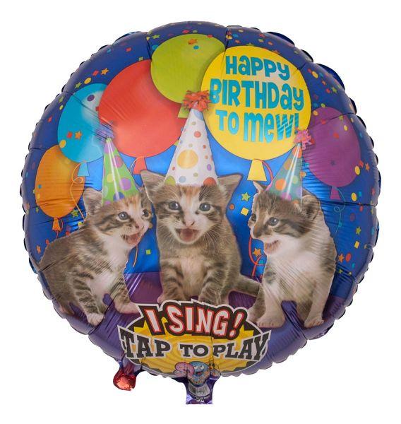 Musikballon Miauende Katzen zum Geburtstag 71cm