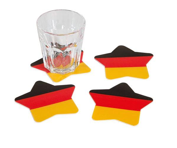 Deutschland - 4 Glas Untersetzer