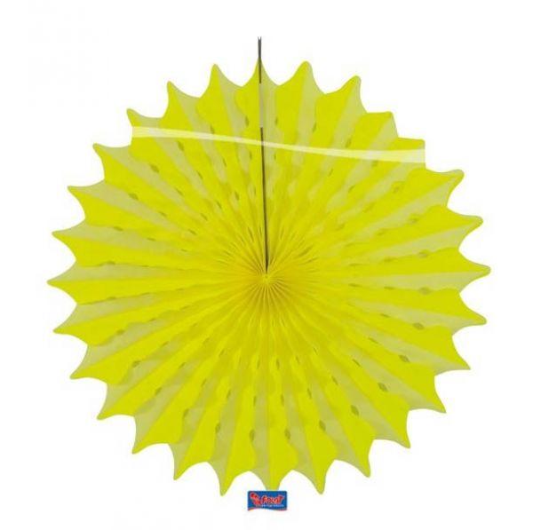 Deko Fächer Neon Gelb 45cm