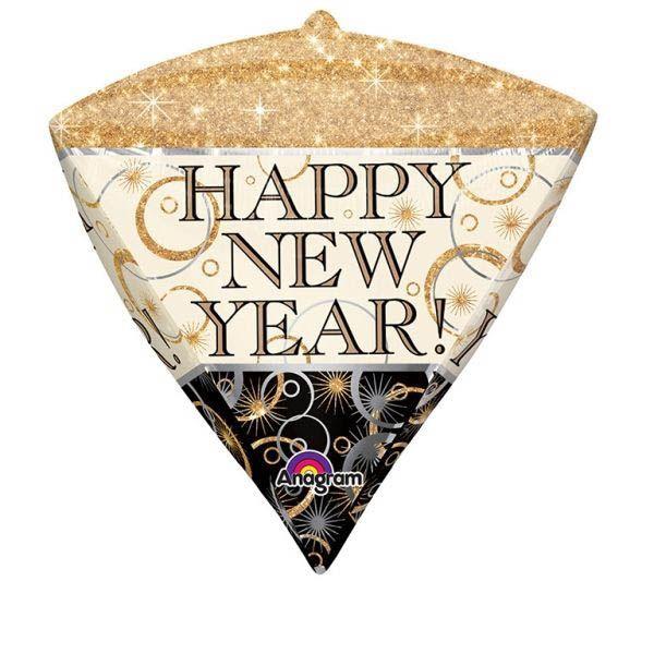 Diamondz Ballon New Year Sparkle 38x43 cm