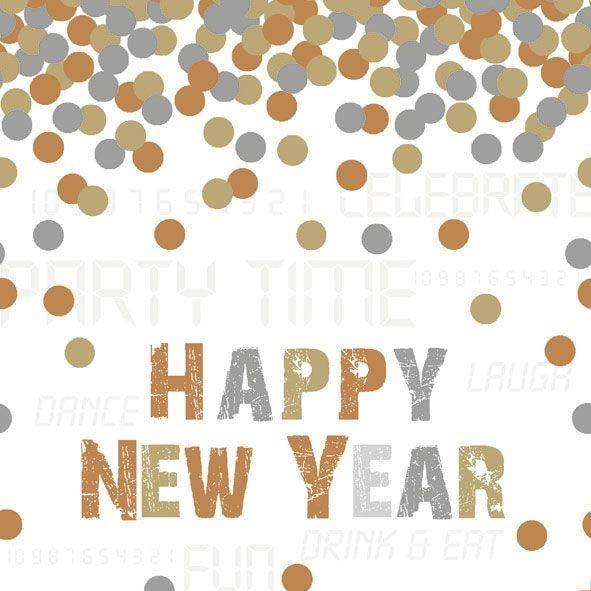 20 Servietten Happy New Year Glamour