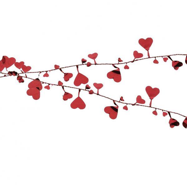 Rote Herz Draht-Girlande