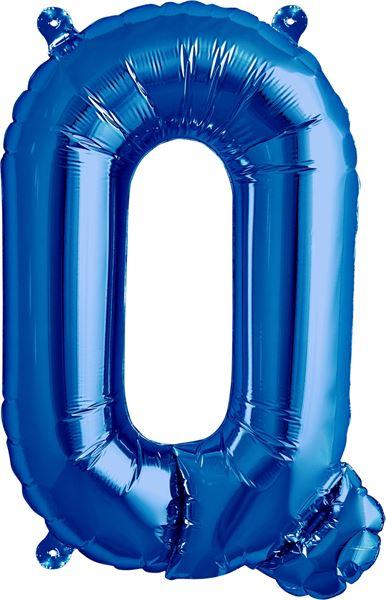 Luftballon Buchstabe Q Blau 40 cm