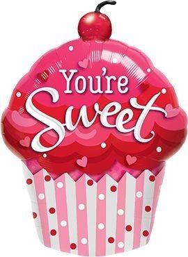 """Folienballon Muffin """"You're Sweet"""" 89cm"""