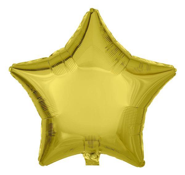 Folienballon Stern Zitronengelb 45cm