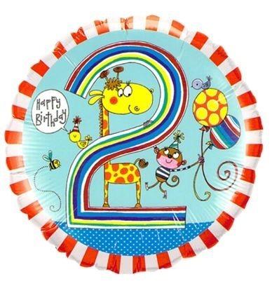"Folienballon Giraffe ""2"" 45cm"