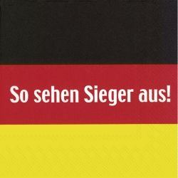 """Deutschland - 20 Cocktail-Servietten """"So sehen Sieger aus"""""""