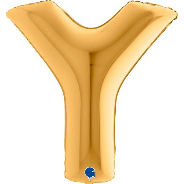 Folienballon Buchstabe Y Gold 100cm