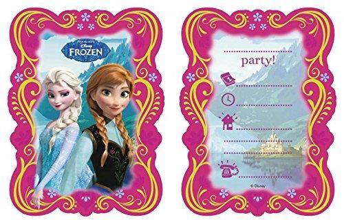 Anna & Elsa - 6 Einladungskarten mit Umschlägen