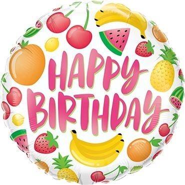 "Folienballon Happy Birhtday ""Happy Fruits"" 46cm"