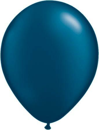 Qualatex Latexballon Pearl Midnight Blue 13cm