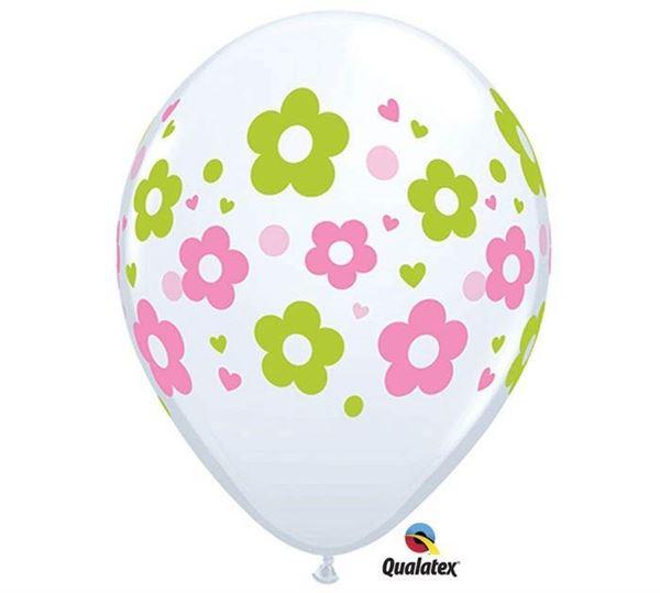 Qualatex Latexballon Blümchen 30cm