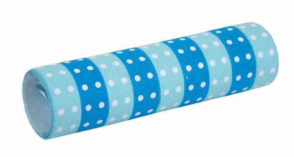 Blau - Luftschlangen mit Punkten