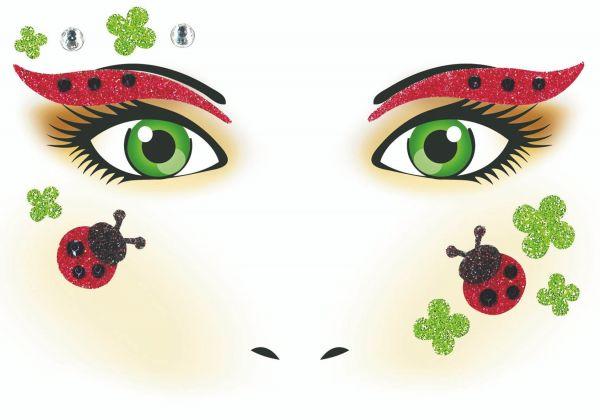 Face Art Sticker - Marienkäfer