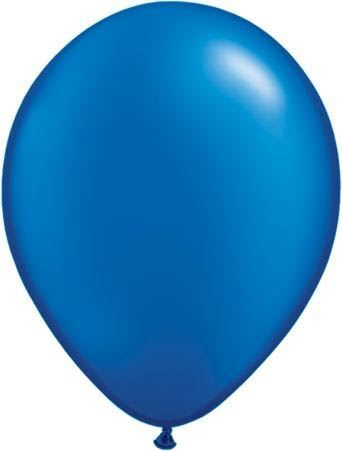 Qualatex Ballon Pearl Saphirblau 30cm