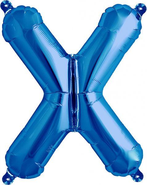 Luftballon Buchstabe X Blau 40cm