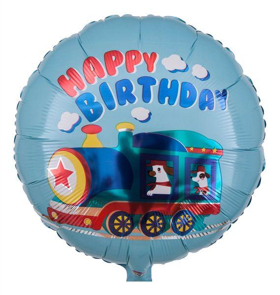 Folienballon Happy Birthday Wau-Wau-Zug 43cm