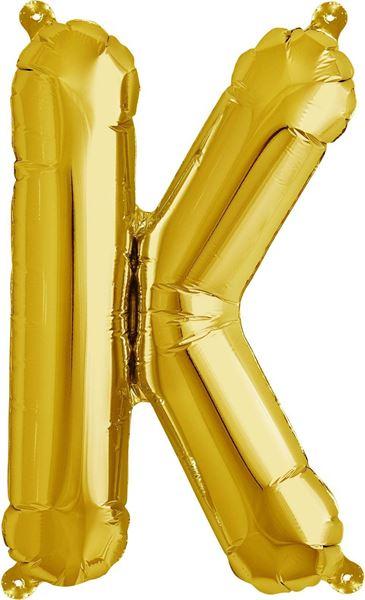 Luftballon Buchstabe K Gold 40 cm