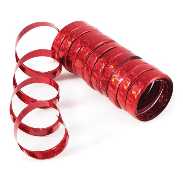 Holo-Folienluftschlangen Rot