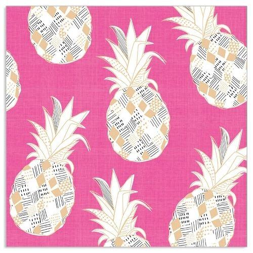 20 Servietten Ananas Pink & Gold