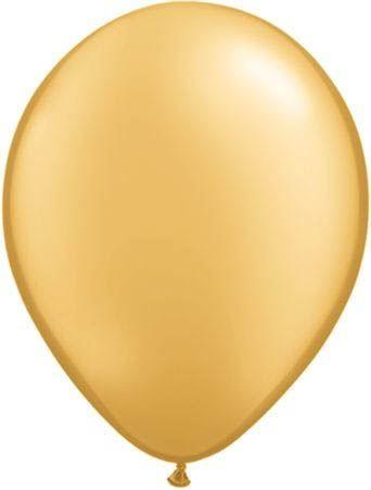 Qualatex Luftballon Metallic Gold 13cm