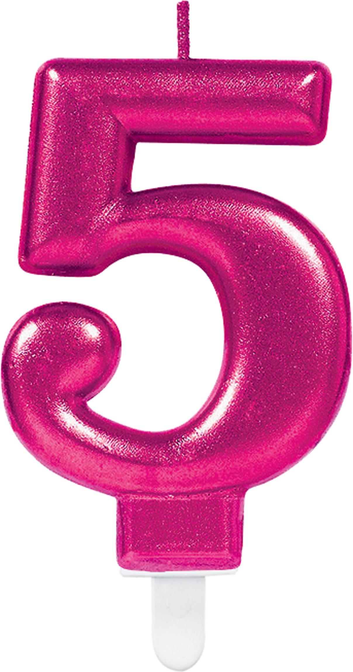 Sparkling Celebrations Pink Zahlenkerze 5 5 Geburtstag