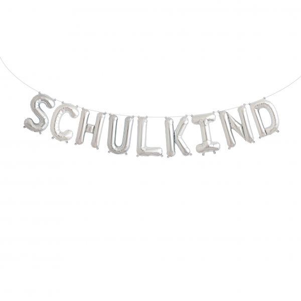 "Folienballon Girlandenset ""SCHULKIND"" Silber"