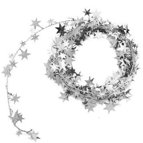 Silberne Sternendrahtgirlande