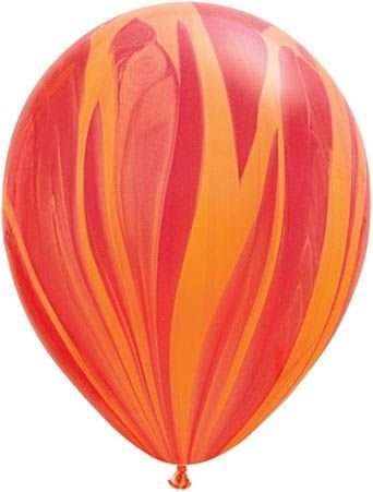 Qualatex Latexballon Super Agate Red Orange Rainbow Ø 30cm
