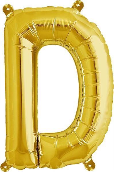 Luftballon Buchstabe D Gold 40 cm