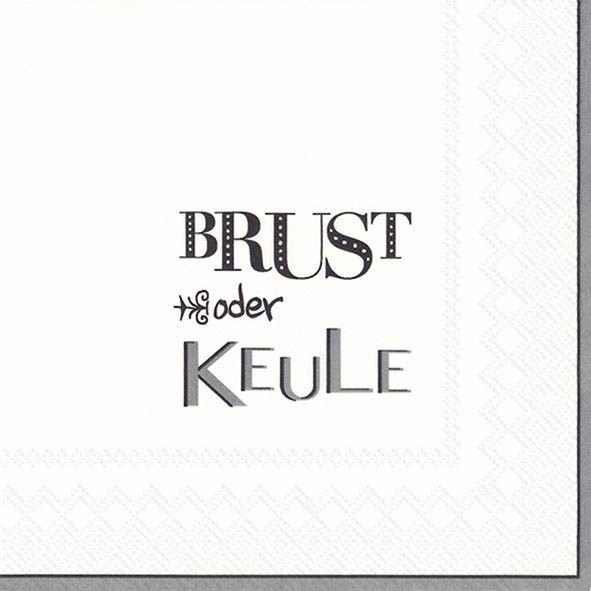 Brust oder Keule Grau - 20 Servietten