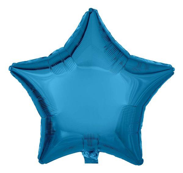 Folienballon Stern Saphirblau 45cm