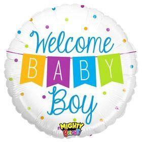 Folienballon Welcome Baby Boy Girlande 45cm