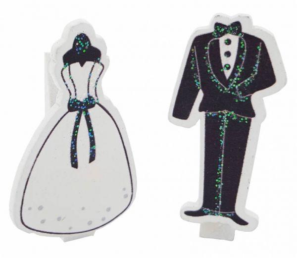 Brautpaar Holzklammer